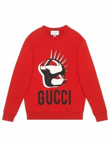 Gucci oversized Manifesto sweatshirt - Red