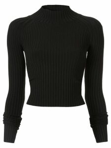 Dion Lee ribbed twist detail top - Black