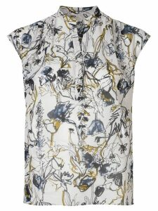Tomorrowland all-over print blouse - White