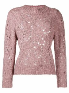 Isabel Marant Étoile cut out holes jumper - PINK
