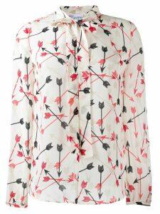 RedValentino arrow print blouse - NEUTRALS