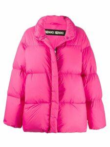 Ienki Ienki logo patch padded jacket - Pink