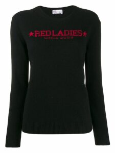 Red Valentino logo knitted jumper - Black
