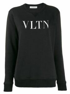 Valentino printed logo sweatshirt - Black