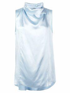 Adam Lippes sleeveless silk blouse - Blue