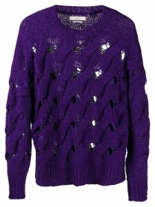 Isabel Marant Étoile chunky knit jumper - PURPLE