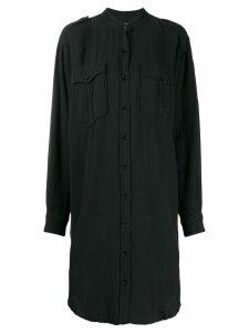 Isabel Marant Étoile long sleeve shirt dress - Black