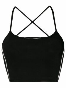 Off-White back crisscross cropped top - Black