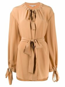 Stella McCartney tie neck blouse - Brown