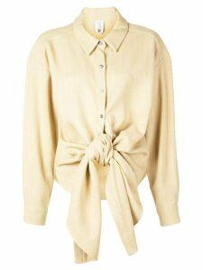 Rosie Assoulin wrap-style shirt - NEUTRALS