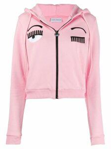 Chiara Ferragni winking eye appliqué hoodie - Pink