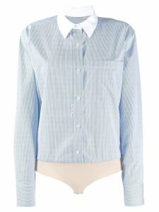 Alexander Wang micro stripe shirt body - Blue