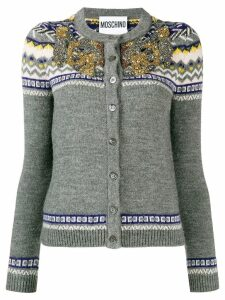 Moschino embellished knit cardigan - Grey