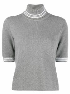 Thom Browne roll-neck top - Grey