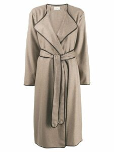 The Row belted robe coat - Brown
