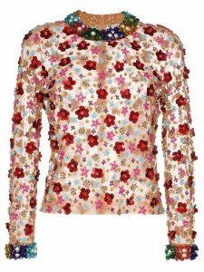 Ashish beaded floral top - MULTICOLOURED