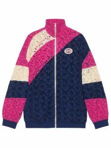 Gucci lace zip front jacket - Blue