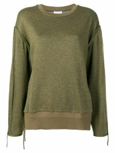 3.1 Phillip Lim Button-Shoulder Top - Green