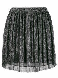 Isabel Marant Étoile metallic pleated mini skirt - SILVER