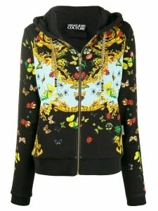Versace Jeans Couture Bug print zipped hoodie - Black