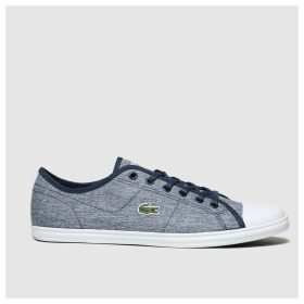 Lacoste Navy & White Ziane Sneaker Trainers