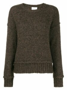 Allude boxy fit jumper - Brown