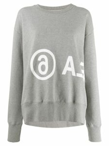 Mm6 Maison Margiela reversed logo oversized sweatshirt - Grey