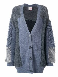 Stella McCartney furry fringed cardigan - Grey