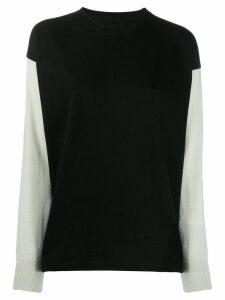 Mm6 Maison Margiela MM6 printed logo sweater - Black