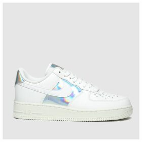 Nike White & Silver Air Force 1 07 Trainers