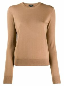 Theory crew neck jumper - NEUTRALS