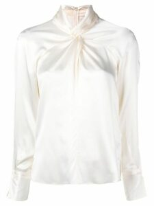 3.1 Phillip Lim Long Sleeve Silk Twisted Blouse - White