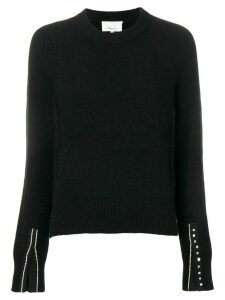 3.1 Phillip Lim Embellished-Cuff Pullover - Black