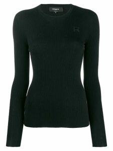 Rochas knitted round neck sweatshirt - Black