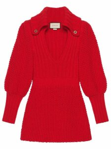 Gucci knitted mini dress - Red