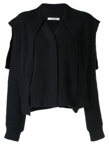Le 17 Septembre layered cardigan - Blue