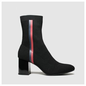 Tommy Hilfiger Black Tj Knitted Heeled Boot Boots