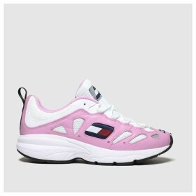 Tommy Hilfiger White & Pink Tj Retro Sneaker Trainers