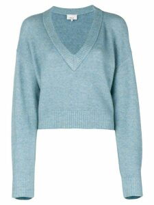 3.1 Phillip Lim Cropped V-Neck Sweater - Blue