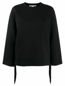 Stella McCartney fringe detail sweatshirt - Black