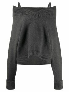 Maison Margiela cold-shoulder knitted jumper - Grey
