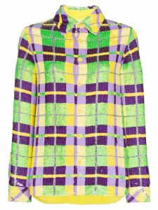 Ashish sequin embellished check shirt - Multicolour