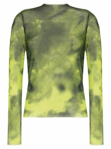 Marques'Almeida tie-dye mesh top - Green