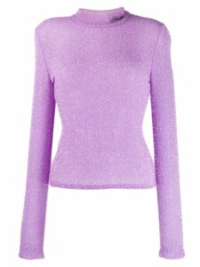 Philosophy Di Lorenzo Serafini textured long sleeve jumper - PURPLE