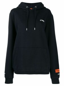 Heron Preston logo patch hoodie - Black
