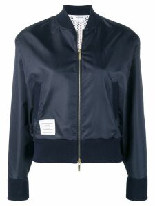 Thom Browne Center Back Navy Ripstop Bomber - Blue