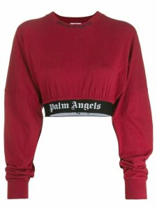 Palm Angels cropped sweatshirt - Red