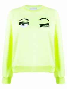 Chiara Ferragni embroidered winking jumper - Yellow