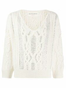 Ermanno Scervino cable knit sweatshirt - NEUTRALS