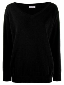 Brunello Cucinelli v-neck sweatshirt - Black